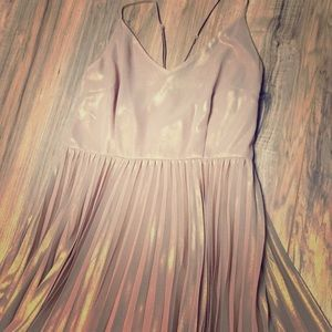 Lauren Conrad size 8 champagne pleated dress!